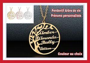BIJOUX-COLLIER-CHAINE-PENDENTIF-ARBRE-DE-VIE-PRENOM-PERSONNALISE-OR-ROSE-ARGENT