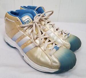 watch 98b57 a44c0 Details about Adidas Shoes size 8.5 Die Marke Mit Den 3 Streifen gold blue  Womens Sneakers