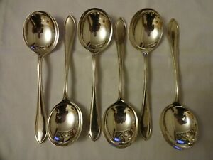 Vintage-Silver-Plated-EPNS-Super-A-Soup-Spoons-x-6-Viners-Sheffield-19-5-cm