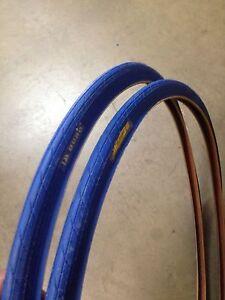 (2 Xtires) 650x23c Bleu Vélo Pneus-afficher Le Titre D'origine Conduire Un Commerce Rugissant