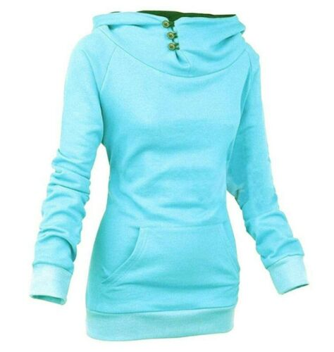 Damen Pullover Pulli Kapuzenpullover Langarm Sweatshirt Winterjacke Oberteil Top