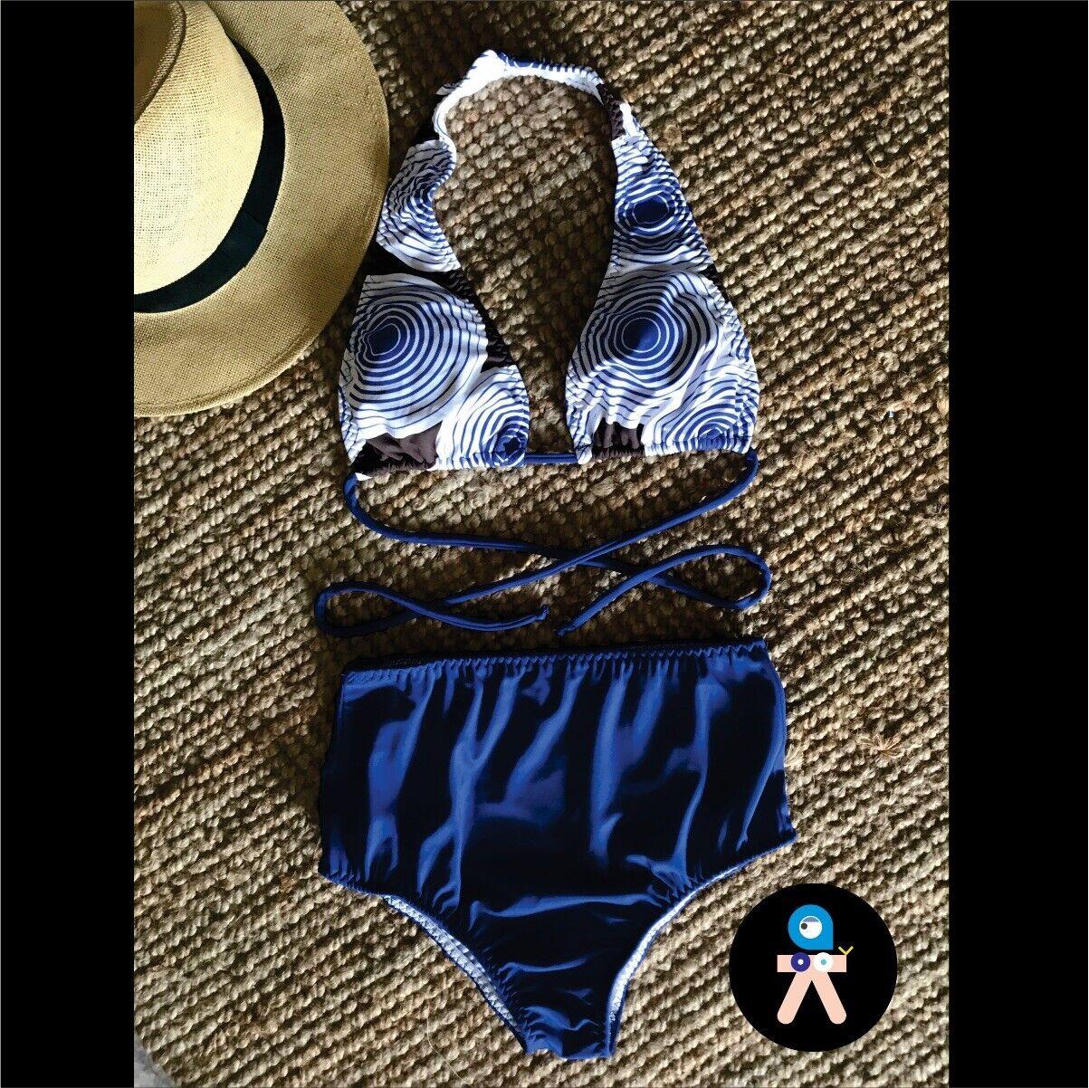 Traje De Baño Dos Piezas,vestido De Baño,bikini,swinsuit,bañador,bañador Alto