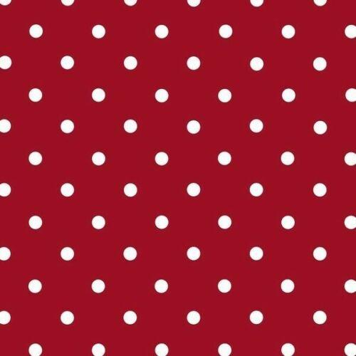2mX45cm POLKA DOT RED WHITE SPOTS VINYL D-C-FIX STICKY BACK PLASTIC FABLON FILM