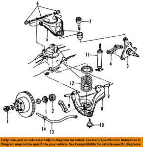 s l300 dodge chrysler oem 91 96 dakota front suspension shock absorber