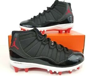 374e3c06b Nike Jordan 11 Mid Retro TD Football Cleats Bred AO1561-010 Size 9 ...