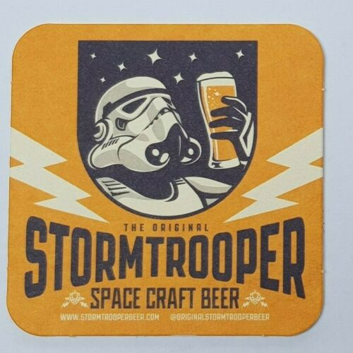 BN Stormtrooper Ale craft Beer Mat Coaster Mancave BBQ Stag darth starwars