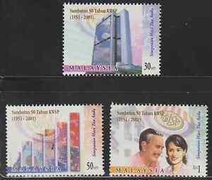 280-MALAYSIA-2001-50TH-ANNIVERSARY-OF-EMPLOYEES-PROVIDENT-FUNDS-SET-FRESH-MNH