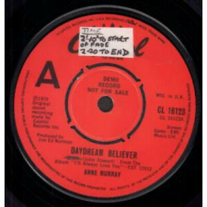 ANNE-MURRAY-Daydream-Believer-7-034-VINYL-UK-Capitol-Demo-B-W-Do-You-Think-Of-Me
