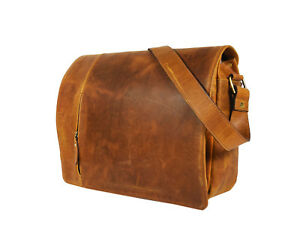 Buffalo-Leather-Messenger-Bag-Men-15-In-Laptop-Satchel-Office-Shoulder-Crossbody