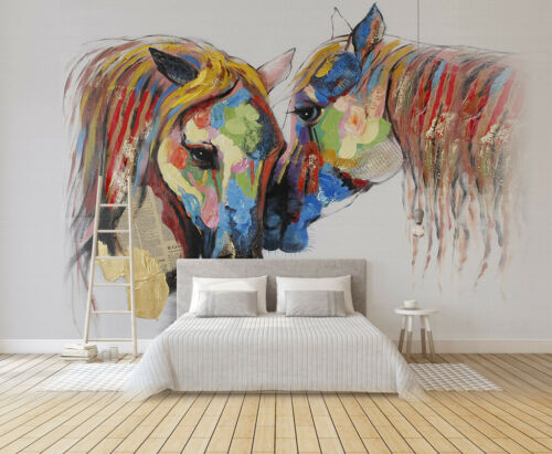 3D Color Horse A81 Wallpaper Wall Mural Removable Self-adhesive Sticker Zoe