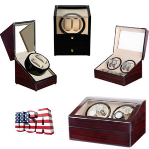 Sanders-Leather-Watch-Winder-Storage-Display-Case-Box-4-6-Automatic-Rotation-Red