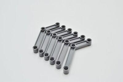 LEGO 6 x Gelenk neues dunkelgrau Dark Bluish Gray Technic Link 1x9 64451 4539297