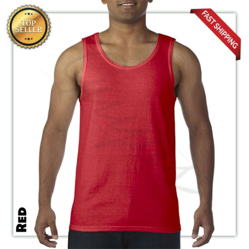 Gildan Tank Top Ultra Cotton Mens Workout Fitness gym Shirt Solid Color  5200