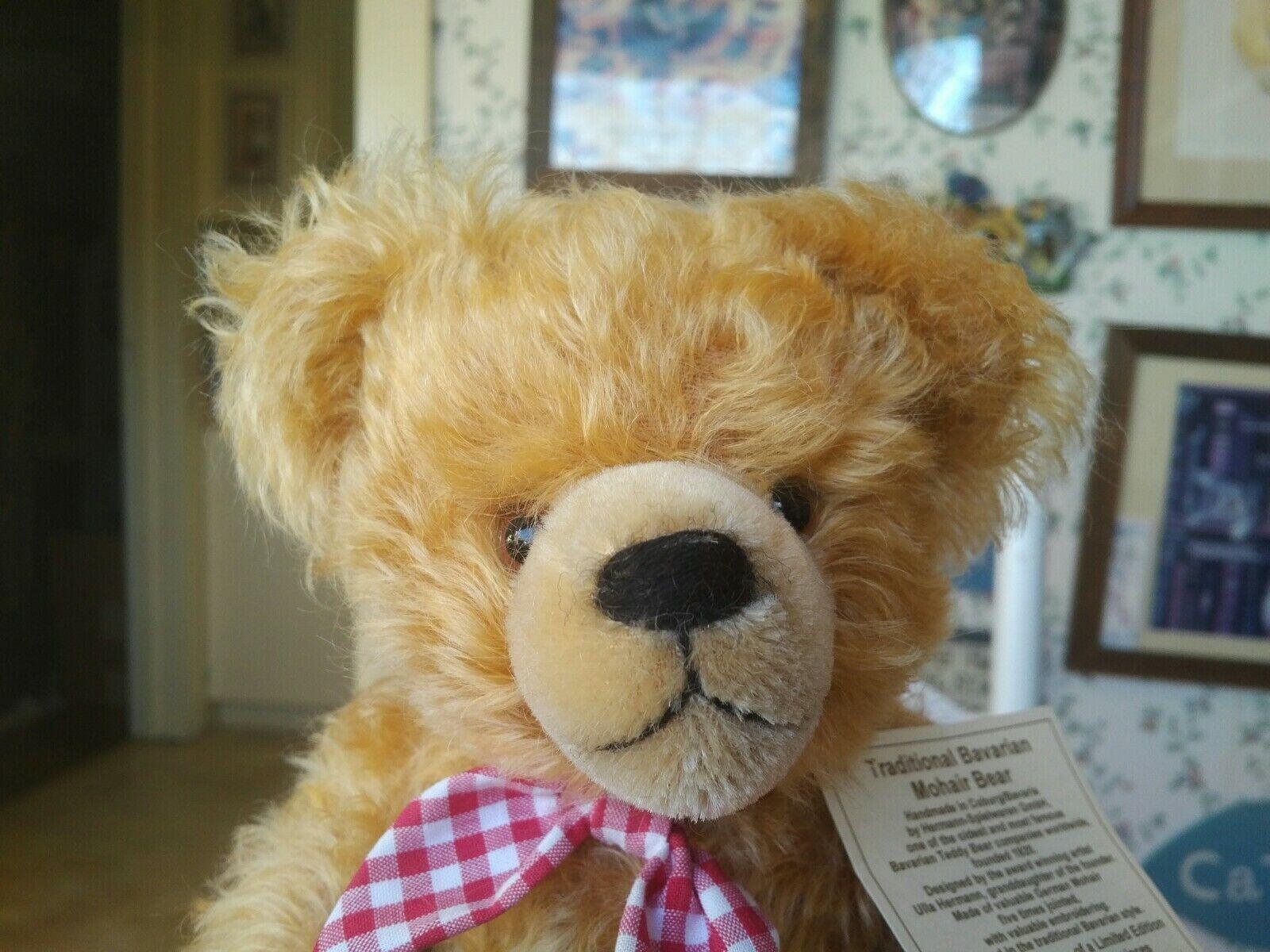 Limited Edition Hermann Spielwaren Bavarian Teddy Bear #173 of 33 14in EUC