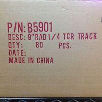 80pc Factory Case Tyco Tcr Slot Less Car Race Track 1/4 9 Radius Curve B5901