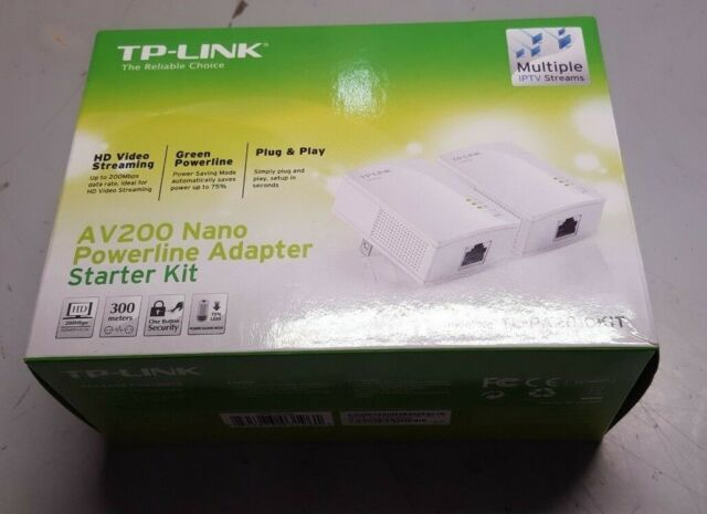 TP-LINK Av200 Nano Powerline Adapter Starter Kit