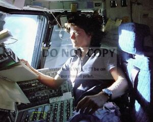 SALLY RIDE ON SPACE SHUTTLE CHALLENGER STS-7 8X10 PHOTO NASA