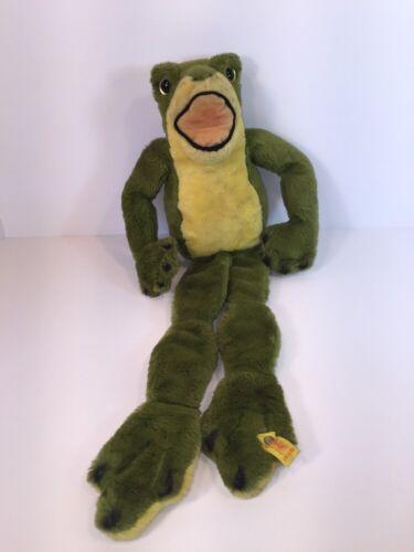 """Steiff Cosy Cappy 24"""" Frog 1981 EAN (5383/60-Steiff2)"""