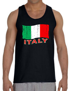 05347bb6fbf527 New Grunge Italy Flag Men s Tank Top Black T Shirt Italian Pride ...