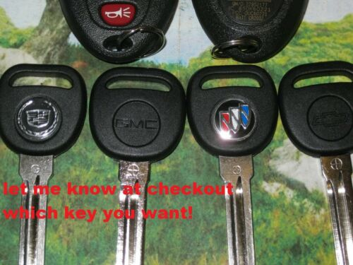1 NEW 100/% OEM GM Fob Remote Transmitter Logo Key 15912859 Impala Lucerne DTS