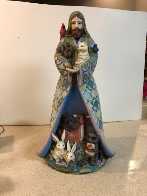 "RARE 22"" Jim Shore St. Francis Animals garden Porch Statue Greeter See Descripti"