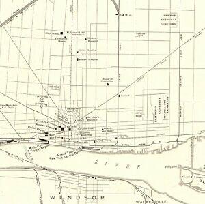 1921 Antique DETROIT Map Uncommon Original City Map of Detroit ...