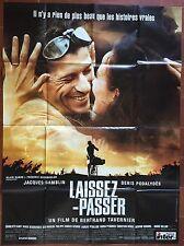 Affiche LAISSEZ-PASSER Jacques Gamblin BETRAND TAVERNIER Podalydes 120x160cm *D