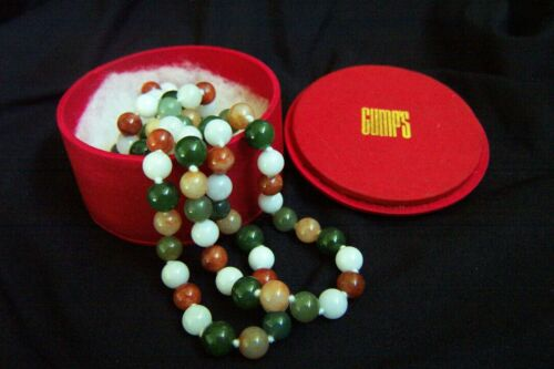 Vintage Gump's Gumps Gump Jade Necklace in Gump's