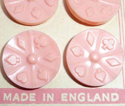 ACE Vintage Bakelite Playing Card Buttons Made in England Choice ofColour /& Size