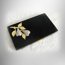 Evans cigarette case with rhinestone pears on cover - FREE SHIPPING