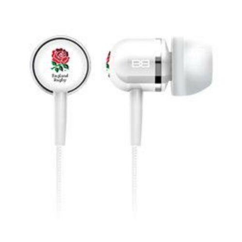 Official BassBuds England Rugby Luxury Earphones Headphones Mic Mp3 Ltd Edition