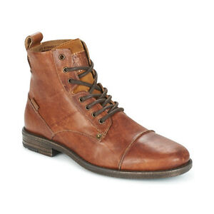 c5148af76ef Details about LEVI'S NEW Mens Brown Emerson Lace Up Boots BNWT