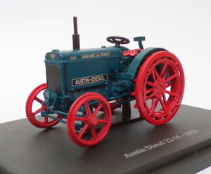Hachette-Tractor-de-modelo-de-escala-1-43-HT072-1933-Austin-Diesel-22-35-Azul