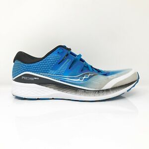 Saucony Mens Everun Ride ISO S20445-1 White Blue Running Shoes Lace Up Size 11 W