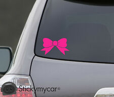 BOW Car Decal Sticker lips Girl Tie Cute cool Kitty Hello New Color - HOT PINK