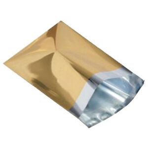 1000-Metallic-Gold-6-5-x9-Mailing-Postage-Postal-Bags