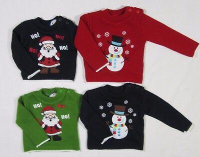 Baby Babies Girls Boys Jumper Sweater Snowman Christmas Novelty Knit Xmas 1 2