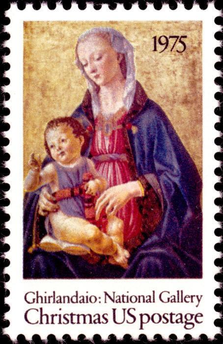 1975 10c Christmas Madonna, Domenico Ghirlandaio Scott