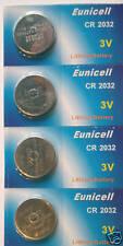 SAAB 9 3 93 9-3 900 Remoto Portachiavi Batteria cr2032 x4 Eunicell