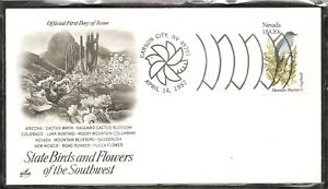 US-SC-1981-State-Birds-And-Flowers-Nevada-FDC-Artcraft-Cachet-1