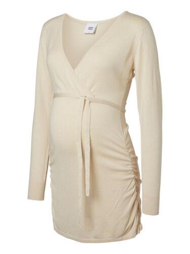 Mamalicious cream knit maternity v neck top tunic  ALL SIZES RRP £40.00 BNWT