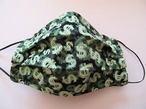 Dollar Signs Face Mask W Filter Pocket Washable Reusable Cotton Fabric Adult Ebay