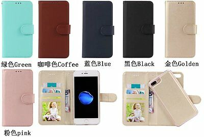 Fashion Luxury Removable Detachable PU Leather Card Slots Case For Apple/Samsung