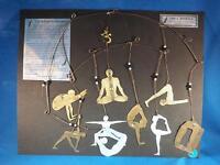 Yoga Mobile W/ Nine Yoga Postures Copper Brass Nickel