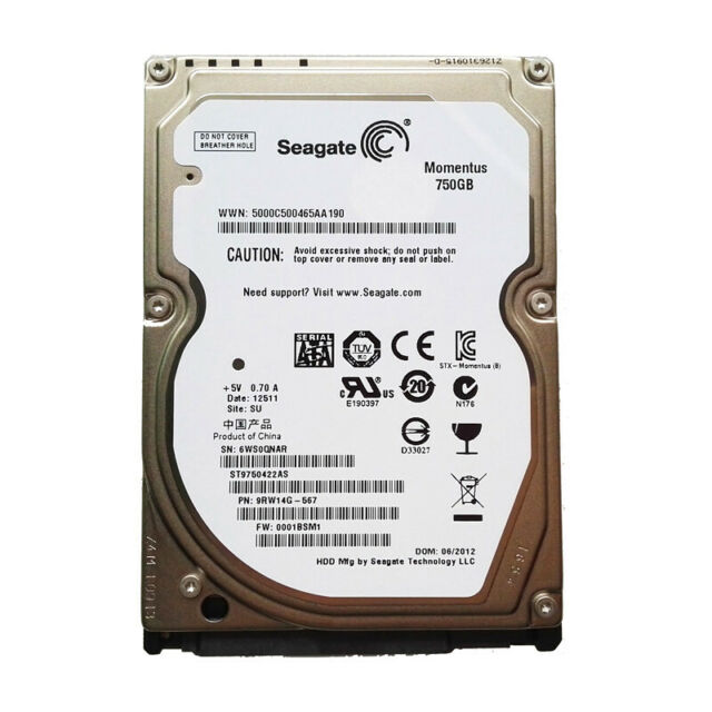 "Seagate Momentus 500GB ST9500423AS 7200RPM SATA 2.5"" Laptop HDD Hard Disk Drive"
