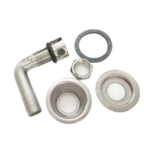 """Stainless Marine//Boat Fuel Gas Tank Vent Flush Mount 90 Degree for 5//8/"""" Hose"""