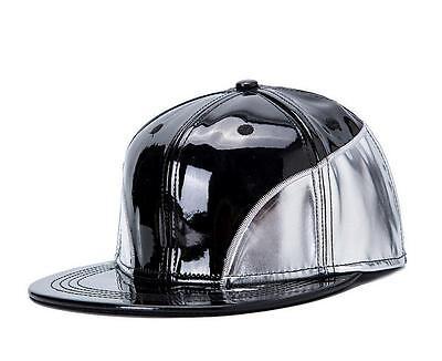 New PU Leather Fashion trend Men's Snapback adjustable Baseball Cap Hip Hop hat