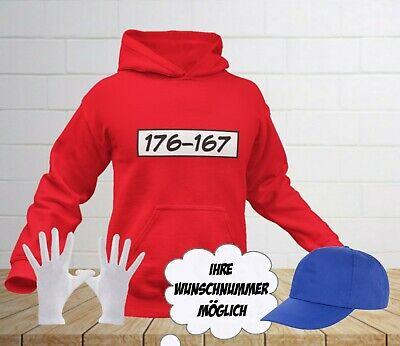 Sweatshirt für Panzerknacker Fans Karneval Fasching Pullover Gruppen Kostüm JGA