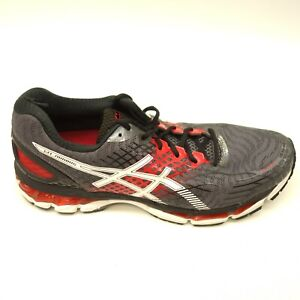 Details about Asics Gel Nimbus 17 US 11 EU 45 Black Red Athletic Running Training Mens Shoes
