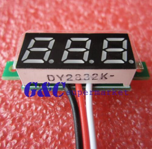"""5PCS 0.28/"""" LED DC  0-100V Digital Voltmeter Panel Meter Blue COLOR M90"""